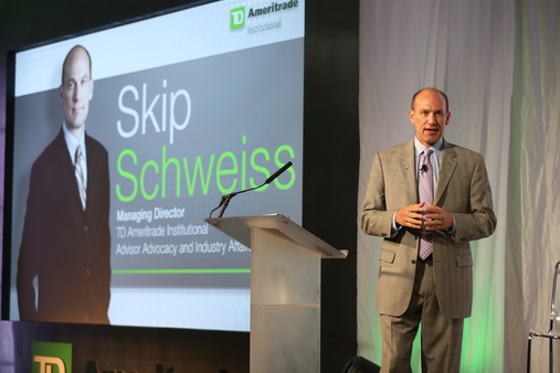Skip Schweiss speaking at a TDAI's Elite Advisor Conference in June.