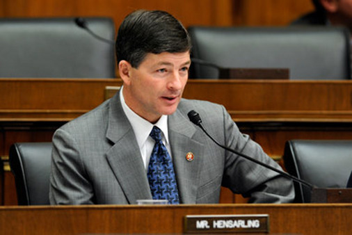Rep. Jeb Hensarling, who will likely replace Spencer Bachus as chair of the House Financial Services Committee, isn't