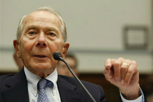 Former AIG head Hank Greenberg testifies on Capitol Hill in 2009 (AP Photo/Gerald Herbert)