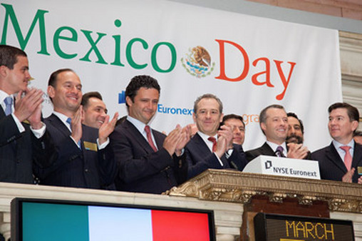 NYSE celebrates Mexico Day. Several investors, like Market Vectors, have joined the celebration recently.