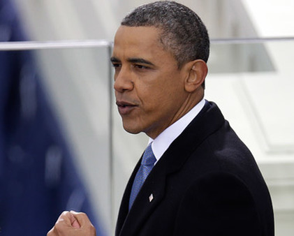 President Obama giving his second inaugural address. (Photo: AP)
