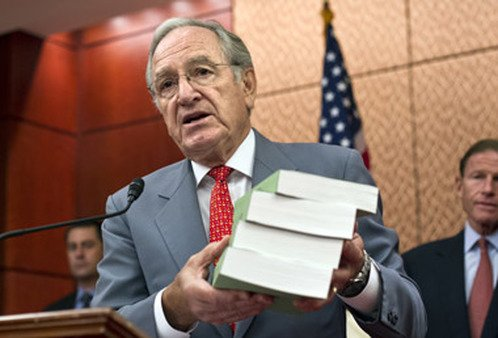 Sen. Tom Harkin in July with a report on for-profit colleges. (Photo: AP)