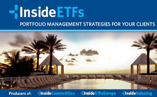 A screenshot of the InsideETFs conference home page.