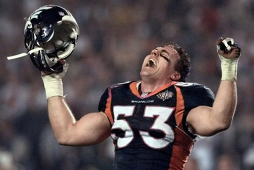 Bill Romanowski as a Denver Bronco in the 1998 Super Bowl. (Photo: AP)