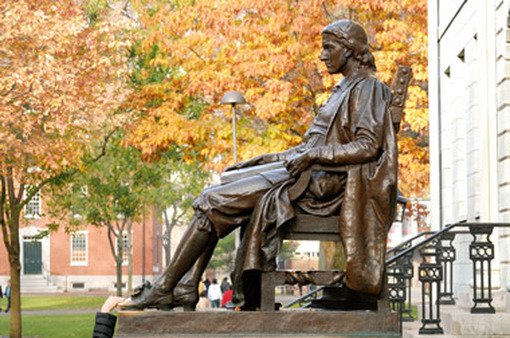 Will John Harvard still be sitting pretty, or will another college knock him off his pedestal?