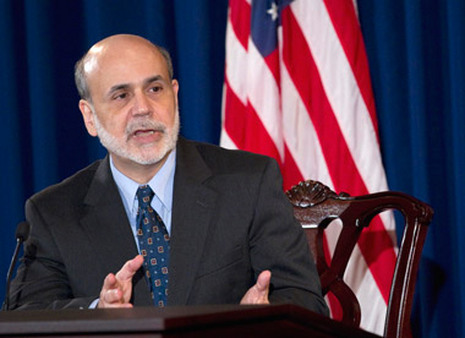 Fed Chairman Ben Bernanke after an FOMC meet