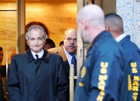 Bernie Madoff leaving his trial. (Photo: AP)