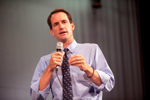 Rep. Jim Himes, D-Conn., talking about health care reform in 2009. (Photo: AP)