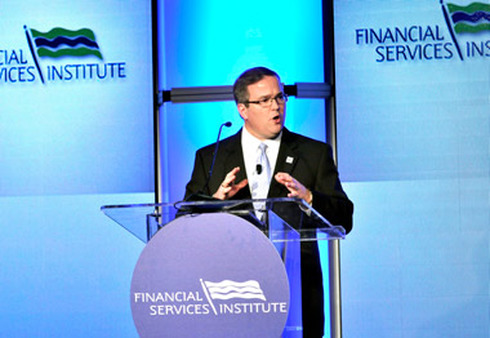 FsI CEO Dale Brown at FSI conference.