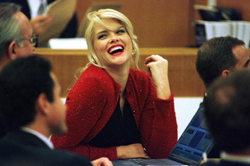 The influence of former Playmate Anna Nicole Smith, seen at her estate trial in 2000, extended beyond magazines and into textbooks. (Photo: AP)