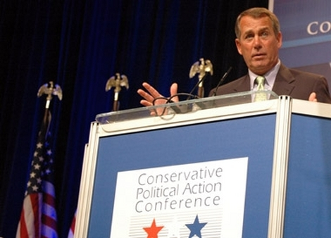 Rep. John Boehner of Ohio, speaking at CPAC in February, will likely be the next Speaker of the House.