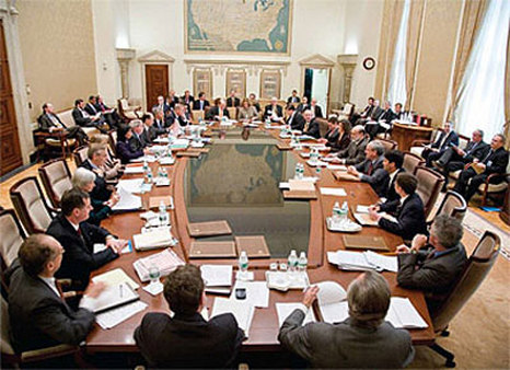 An earlier FOMC meeting in Washington.