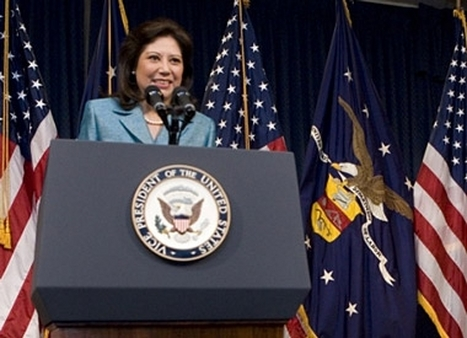 Secretary of Labor Hilda Solis at her swearing-in ceremony in 2009.