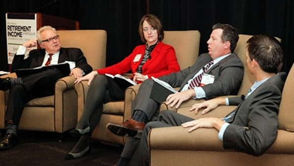 A RIS panel led by Jamie Green (far left), featuring (left to right) Carina Diamond, Rob Morrison and Zach Parker.