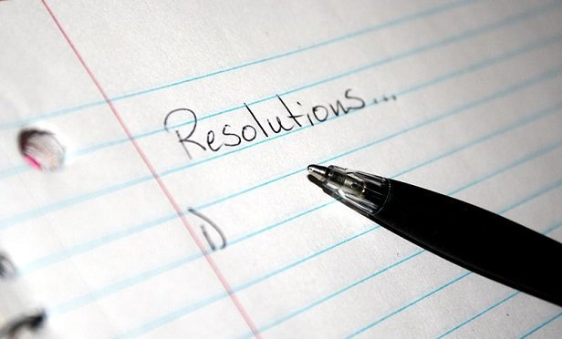 """Resolutions"" written on a piece of notebook paper (Image: Wikimedia Commons Public Domain)"