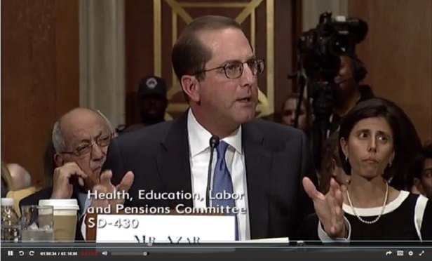Alex Azar (Photo: Senate HELP)