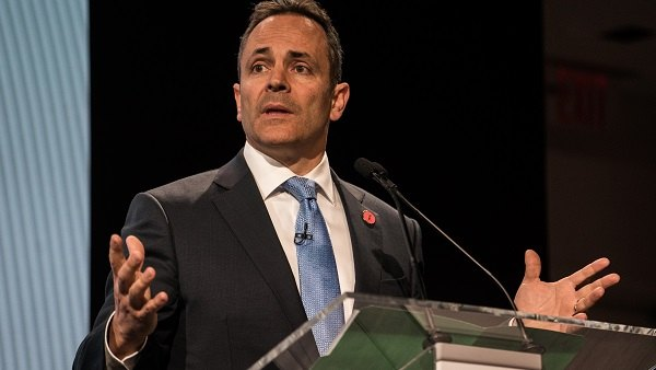 Matt Bevin, governor of Kentucky, speaks during the 2017 International Finance and Infrastructure Cooperation Forum in New York, U.S., on Monday, April 24, 2017. The forum brings together U.S. and Chinese government officials and global business executives from Fortune 500 companies. Photographer: Misha Friedman/Bloomberg