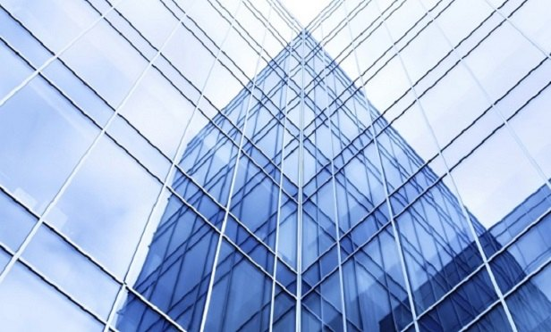 Glossy corporate buildings