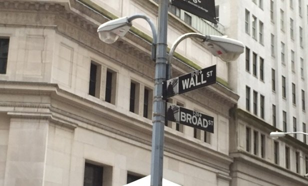 A street sign on Wall Street