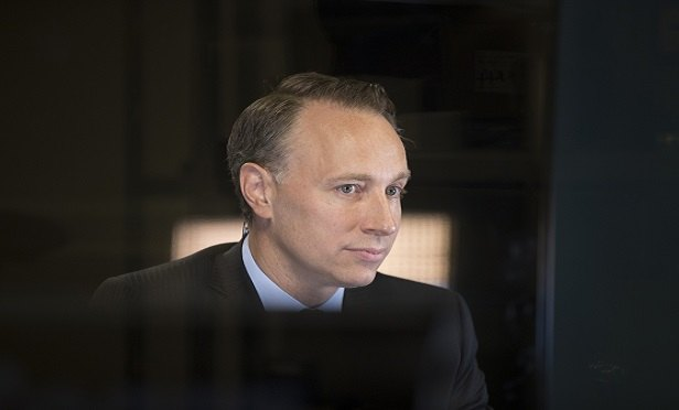Thomas Buberl, incoming chief executive officer of AXA SA, looks on during a Bloomberg Television interview in Paris, France, on Wednesday, Aug. 3, 2016. Axa, France's biggest insurer, said first-half profit rose 4 percent as increased earnings from life and health insurance helped offset higher claims from natural catastrophes. Photographer:
