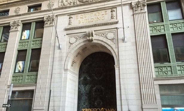 The entrance to the Equitable Building (Photo: Allison Bell/TA)