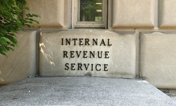 Part of the IRS headquarters building (Photo: Allison Bell/TA)