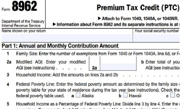 Taxpayer Reports Of Aca Premium Tax Credit Subsidy Help Fall 9