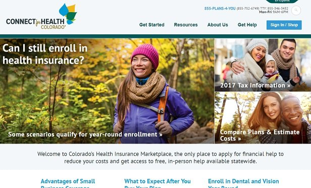Connect for Health Colorado home page