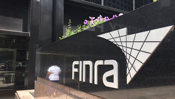 Outside FINRA offices in New York