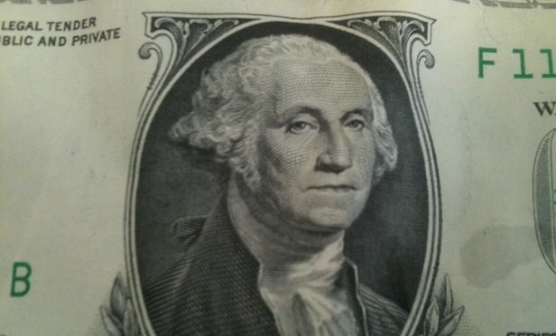 George Washington on a dollar (Image: Allison Bell/TA)