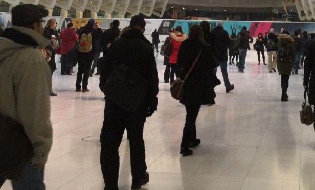 People walking around in the WTC Oculus