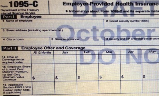 Part of a draft Form 1095-C (Image: IRS)