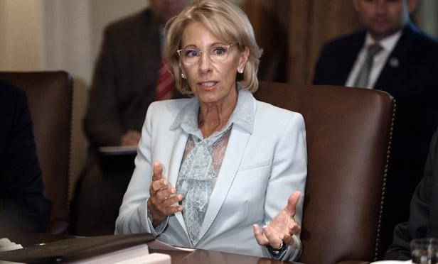 Bloomberg photo of Education Secretary Betsy DeVos