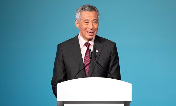 Lee Hsien Loong, the Prime Minister of Singapore, speaks at the opening ceremony of the Summit of the Association of Southeast Asian Nations (ASEAN) in Singapore, on Saturday, April 28, 2018. The summit runs until April 28. Photographer: Paul Miller / Bloomberg