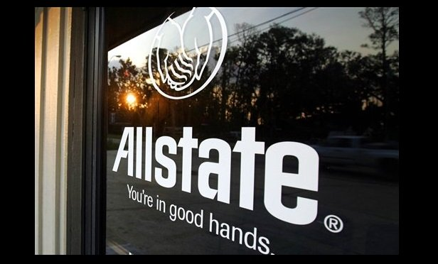 Window with the Allstate logo. (Photo: LM Otero/AP)