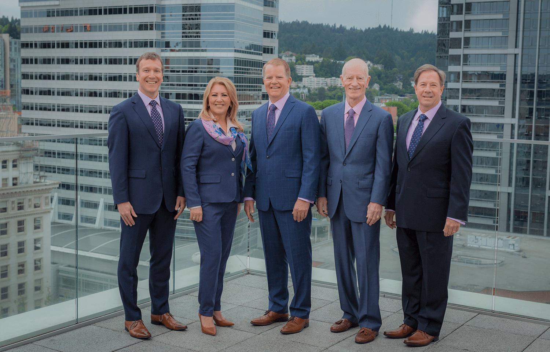 2019 MDRT Executive Committee (From left to right): Ian Green, Regina Bedoya, Ross Vanderwolf, James Pittman and Randy Scritchfield. (Photo: MDRT)