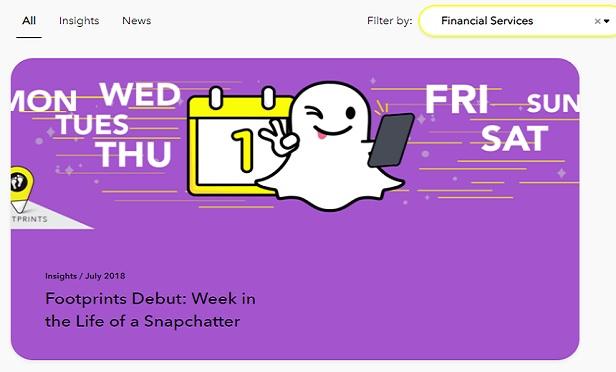 A screenshot from a Snapchat page aimed at advertisers. (Image: Snapchat)
