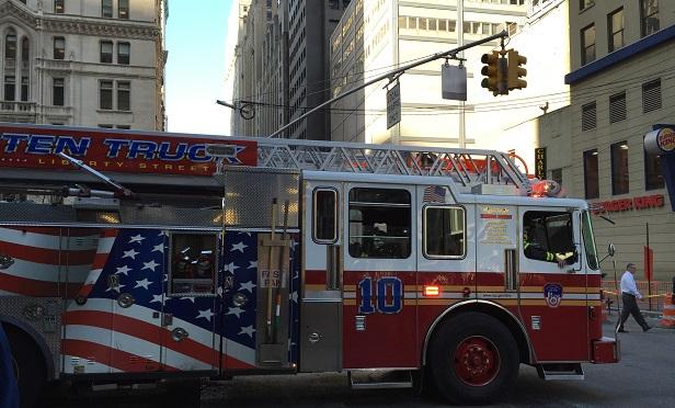 Fire truck (Photo: Allison Bell/TA)