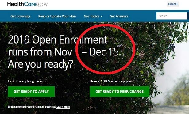 Open enrollment ends Dec. 15