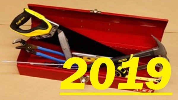 Toolbox with 2019 over it