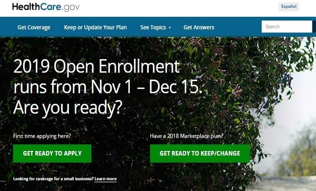 HealthCare.gov site screen capture
