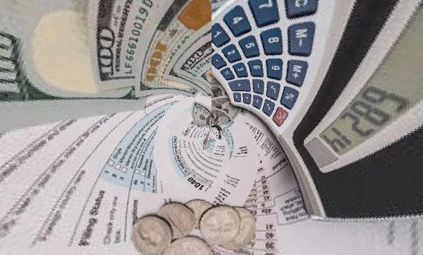 Tax forms sucked into a vortex