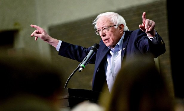 Senator Bernie Sanders, an Independent from Vermont, speaks during a campaign rally for Senator Tammy Baldwin, a Democrat from Wisconsin, not pictured, in Milwaukee, Wisconsin, U.S., on Monday, Oct. 22, 2018. Sanders visited Wisconsin as part of a nine-state swing with to give a boost to progressive candidates ahead of the November 6 midterm elections. Photographer: Daniel Acker/Bloomberg