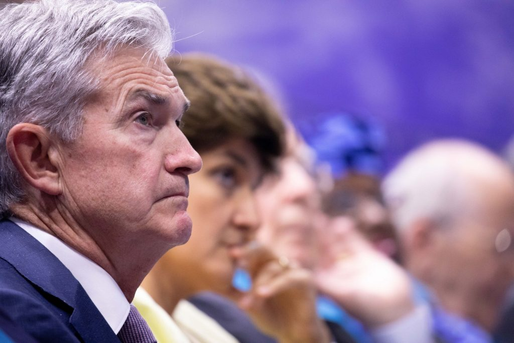 Bloomberg photo of Fed Chair Jerome Powell