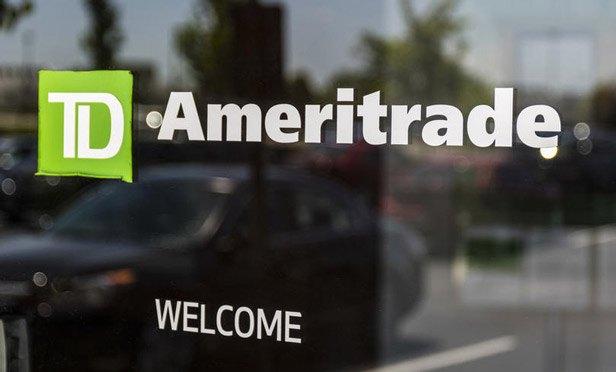 Ameritrade sign on a door