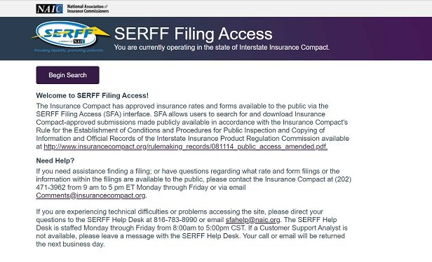 NAIC May Upgrade the SERFF Filing Database System