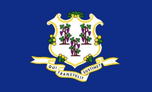 A picture of the Connecticut state flag