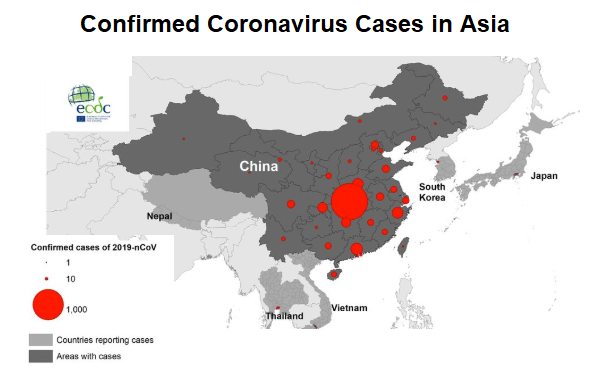 what countries are affected by coronavirus
