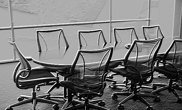 A conference room table