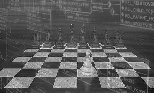 Chess and a data process flowchart